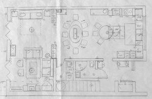Interior design plans for Norfolk home.